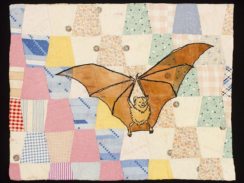 Quilted Bat Laurel Izard Mixed Media Artist