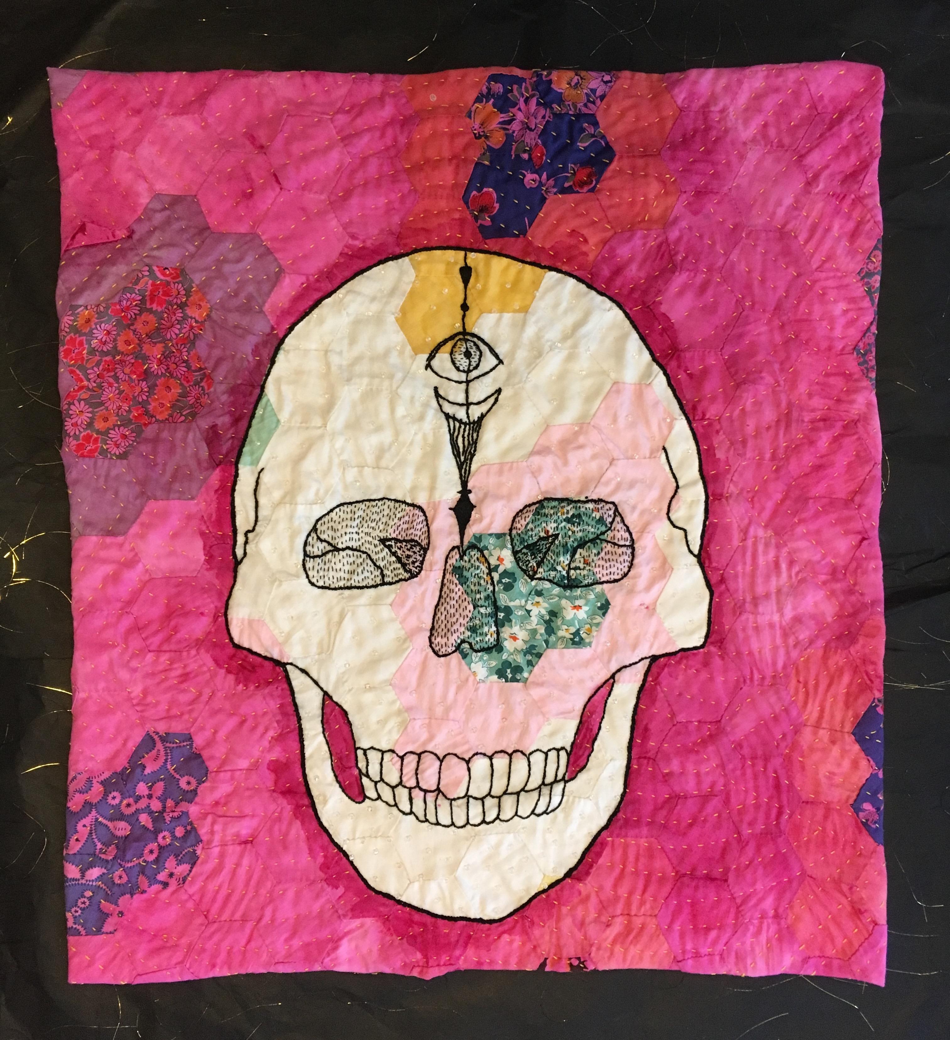 Quilted Skull Laurel Izard Fiber Artist