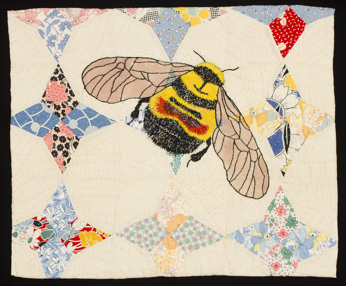 Rusty Patch Bumble Bee Fabric Art